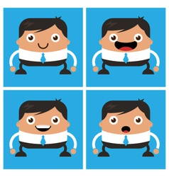 Business men with white shirt and tie vector image vector image
