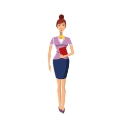 Businesswoman icon in cartoon style vector image
