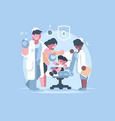 children medical vaccination vector image