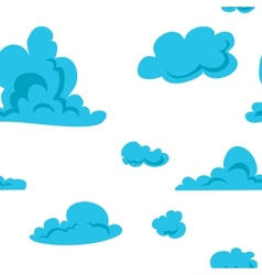 Clouds seamless pattern vector image vector image