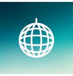 Disco ball thin line icon vector image