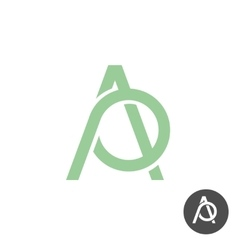 Letters A and P ligature logo vector image