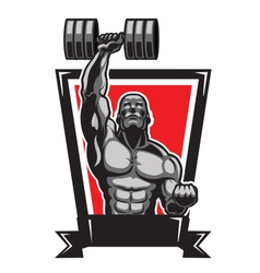 Muscular Body Builder vector image