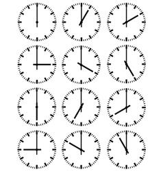 of clocks vector image vector image