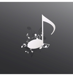 Abstract musical background vector image