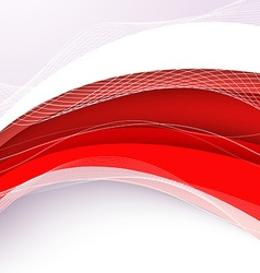 Abstract red background with wave vector image vector image