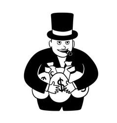 Greedy businessman vector