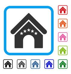 hotel building framed icon vector image
