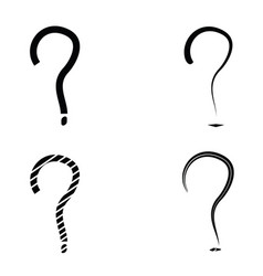 question mark sign icon set vector image