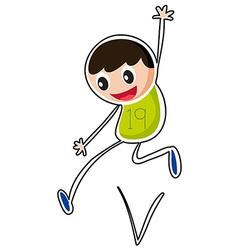 A boy jumping vector image