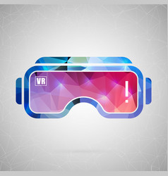abstract creative concept icon of vr for vector image