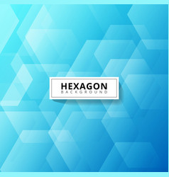 abstract geometric hexagon overlapping layer vector image