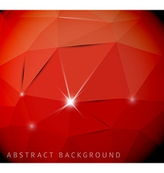 Abstract red background made from triangles vector