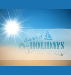 abstract summer poster vector image vector image