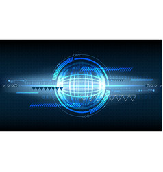 Abstract technological display background vector