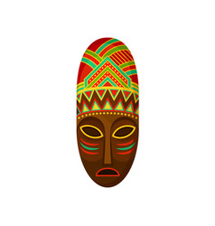 African ethnic tribal mask authentic symbol of vector