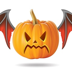angry pumpkin2 vector image vector image