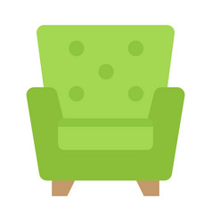 Armchair flat icon furniture and interior vector