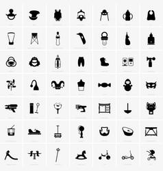 babies and kids symbols vector image