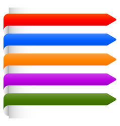 banner bookmark backgrounds from edge of a page vector image