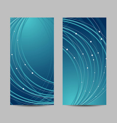 banners with abstract waves vector image