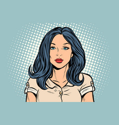 beautiful brunette woman vector image
