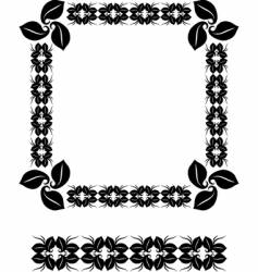 beauty frame vector image