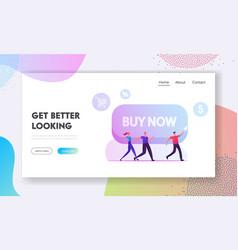 black friday total sale website landing page vector image