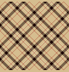 Black red beige and white plaid tartan flannel vector