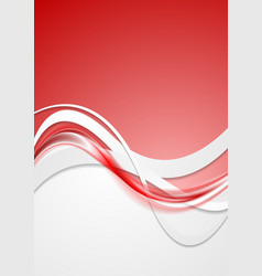 Bright red wavy abstract background vector image