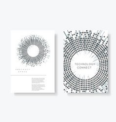 brochure cover design templates vector image