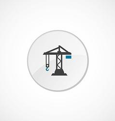 building crane icon 2 colored vector image