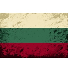 Bulgarian flag Grunge background vector