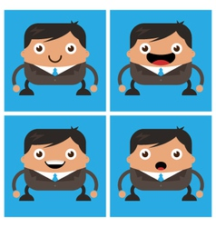 Business men with black suit and tie vector