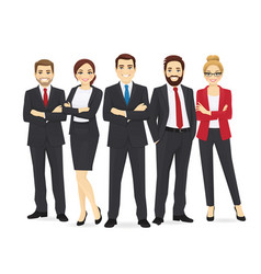 business team set vector image