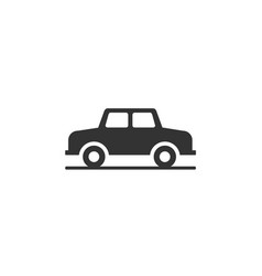 car monochrome icon vector image