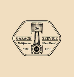 Car repair logo with plunger piston vector