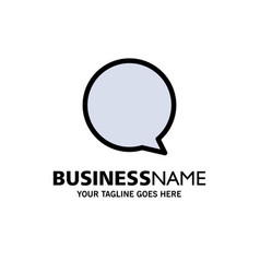 Chat instagram interface business logo template vector