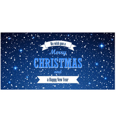 christmas blue background merry christmas and vector image