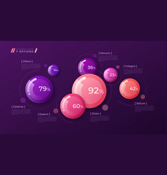 colorful template for creating infographics vector image