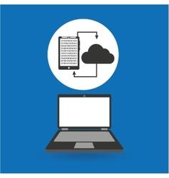 Computer analysis smartphone cloud transfer vector