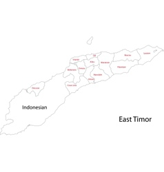Contour East Timor map vector image