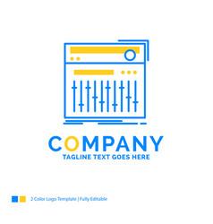 Control controller midi studio sound blue yellow vector