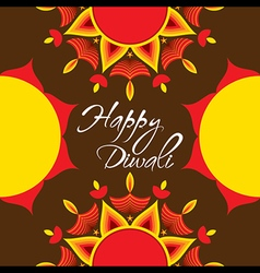 creative happy diwali festival greeting or poster vector image
