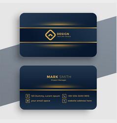 dark luxury golden business card template design vector image