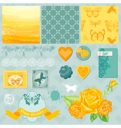 Design Elements - Ombre Butterflies Theme vector image