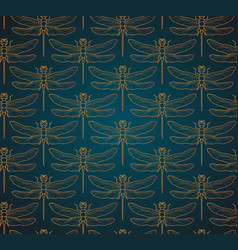 Dragonfly pattern seamless vector