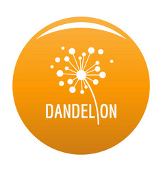 Dried dandelion logo icon orange vector