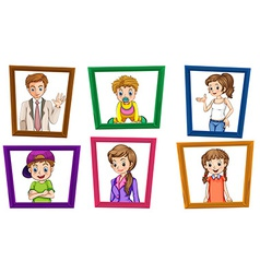 Family and frames vector