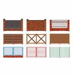 fences set vector image vector image
